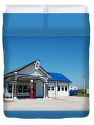 Route 66 Odell Il Gas Station 02 Duvet Cover