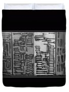 Route 66 Odell Il Gas Station Tools Black And White Duvet Cover