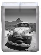 Route 66 - Old Chevy Pickup Duvet Cover
