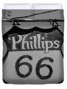 Route 66 - Phillips 66 Petroleum Duvet Cover