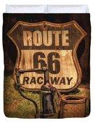 Route 66 Raceway Duvet Cover