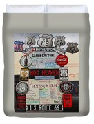 Route 66 Signs Duvet Cover