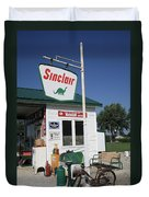 Route 66 - Sinclair Station Duvet Cover