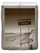 Route 66 - Sitgreaves Pass Duvet Cover