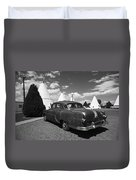 Route 66 Wigwam Motel And Classic Car 5 Duvet Cover