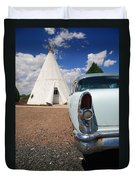 Route 66 Wigwam Motel Duvet Cover