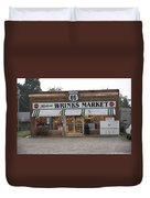 Route 66 - Wrink's Market Duvet Cover