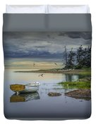Row Boat By Mount Desert Island Duvet Cover