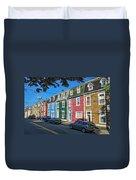 Row Houses Duvet Cover