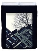 Row Houses In Washington Heights Duvet Cover