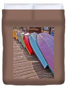 Row Of Colorful Boats Art Prints Duvet Cover