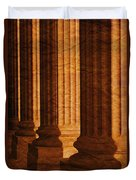 Row Of Large Columns Duvet Cover