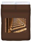 Row Of Pillars Duvet Cover