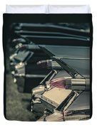 Row Of Vintage Car Fins Duvet Cover