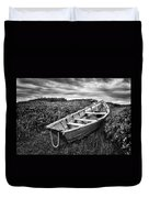 Rowboat At Prospect Point - Black And White Duvet Cover