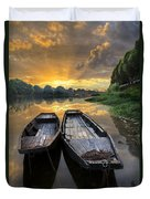 Rowboats On The River Duvet Cover