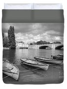 Rowing Boats Duvet Cover