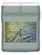 Rowing Crew Duvet Cover by Bill Cannon