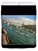 Rowing To The Golden Gate Bridge Duvet Cover