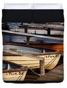Rownoats At The Schlachtensee Duvet Cover