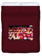 Rows Of Roses Duvet Cover