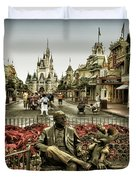 Roy And Minnie Mouse Antique Style Walt Disney World Duvet Cover