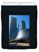 Roy Thomson Hall And Cn Tower Duvet Cover
