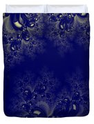 Royal Blue Frost Fractal Duvet Cover