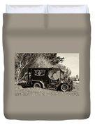 Royal City Paddy Wagon Sepia Duvet Cover