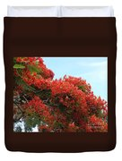 Royal Poinciana Branch Duvet Cover