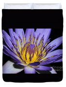 Royal Purple Water Lily #5 Duvet Cover