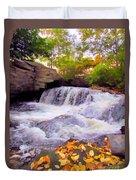 Royal River White Waterfall Duvet Cover