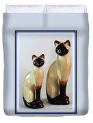 Royal Siamese - Ceramic Cats Duvet Cover