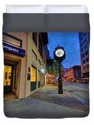 Royal Street Clock Duvet Cover