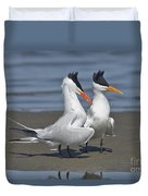 Royal Terns Dancing Duvet Cover