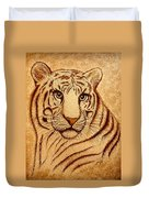 Royal Tiger Coffee Painting Duvet Cover