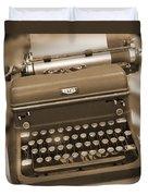 Royal Typewriter Duvet Cover