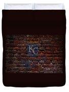 Royals Baseball Graffiti On Brick  Duvet Cover by Movie Poster Prints