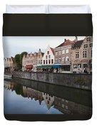 Rozenhoedkaai Bruges Duvet Cover