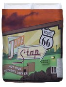 Rt 66 Dwight Il Java Stop Duvet Cover