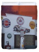 Rt 66 Dwight Il Roadside Attraction Duvet Cover