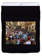 Rua 25 De Marco - Sao Paulo Duvet Cover