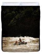 Rubber Raft Running Rapids Duvet Cover
