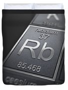 Rubidium Chemical Element Duvet Cover