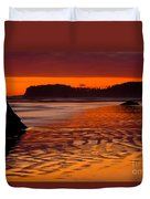 Ruby Beach Afterglow Duvet Cover