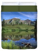 Ruby Peak Reflected In Lake Raggeds Duvet Cover