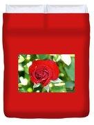 Ruby Rose Diamond Dust Duvet Cover
