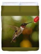 Ruby-throat Hummingbird Duvet Cover