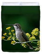 Ruby Throated Hummingbird 1 Duvet Cover