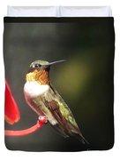 Ruby Throated Hummingbird 2 Duvet Cover